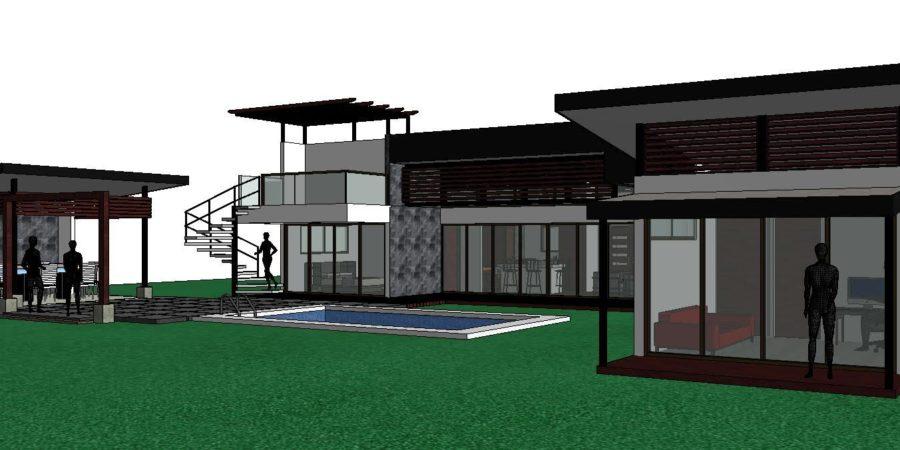 3d custom home design costa rica
